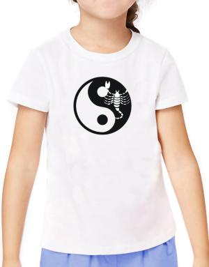 Yin Yang Scorpio T-Shirt Girls Youth