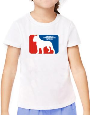 American Staffordshire Terrier Sports Logo T-Shirt Girls Youth