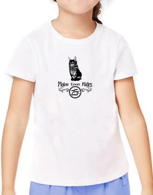 Maine Coon rides T-Shirt Girls Youth