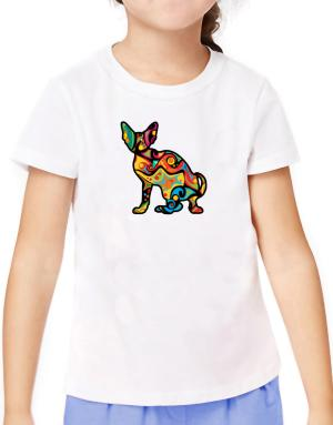 Psychedelic Cornish Rex T-Shirt Girls Youth