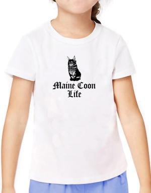 Maine Coon life T-Shirt Girls Youth