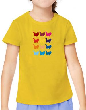 Colorful Siberian T-Shirt Girls Youth