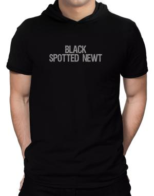 Black Spotted Newt - Vintage Hooded T-Shirt - Mens