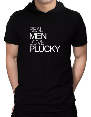Real men love plucky Hooded T-Shirt - Mens
