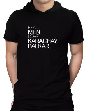 Real men love Karachay-Balkar Hooded T-Shirt - Mens