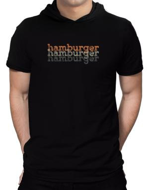 Hamburger repeat retro Hooded T-Shirt - Mens