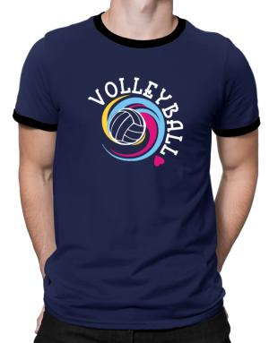 Volleyball colors Ringer T-Shirt