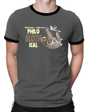 Philosophical Sloth Ringer T-Shirt