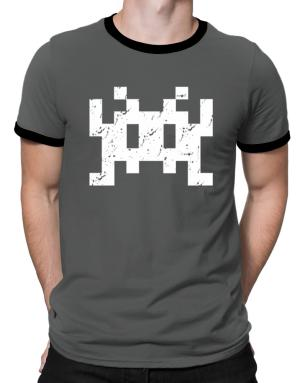 Space invaders retro Ringer T-Shirt