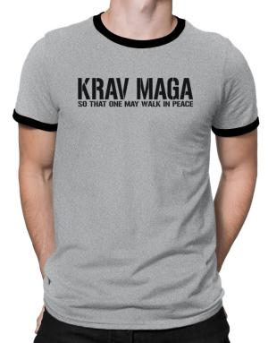 Polo Ringer de Krav Maga Walk in peace
