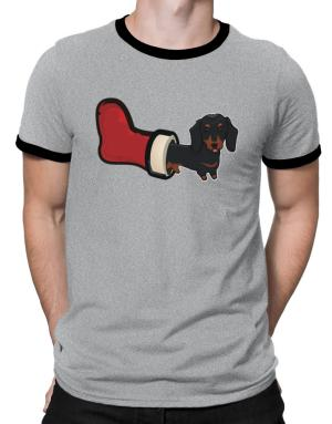 Dachshund Stocking Stuffer Ringer T-Shirt