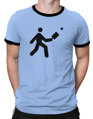 Pickleball Stickman Ringer T-Shirt