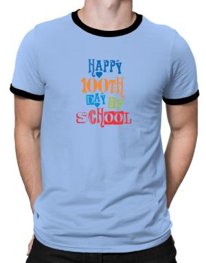 Happy 100th day of school cool style Ringer T-Shirt