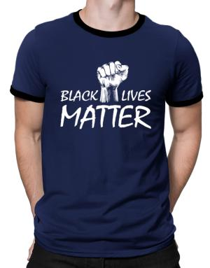 Playeras Ringer de Black lives matter