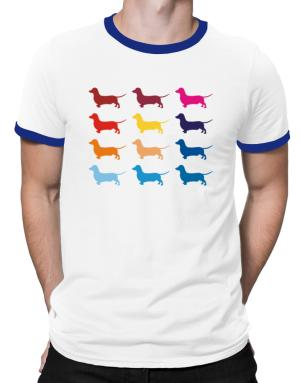 Colorful Dachshund Ringer T-Shirt