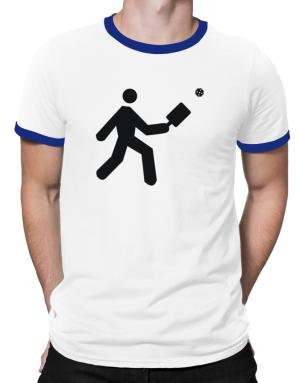Polo Ringer de Pickleball Stickman
