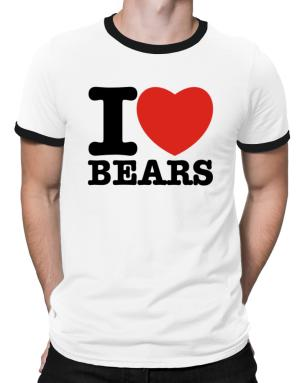 I Love Bears Ringer T-Shirt