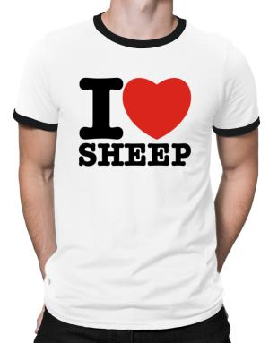 I Love Sheep Ringer T-Shirt