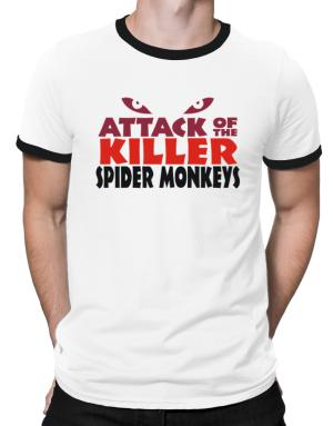 Attack Of The Killer Spider Monkeys Ringer T-Shirt