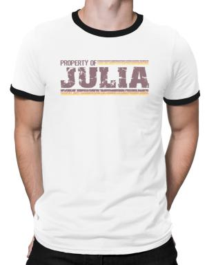 Property Of Julia - Vintage Ringer T-Shirt