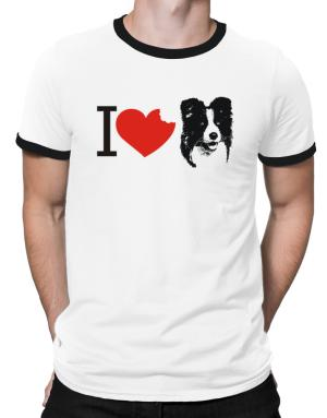 I love Border Collies Ringer T-Shirt