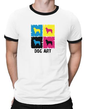 Australian Shepherd Dog Art - Pop Art Ringer T-Shirt