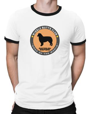 Australian Shepherd - Wiggle Butts Club Ringer T-Shirt