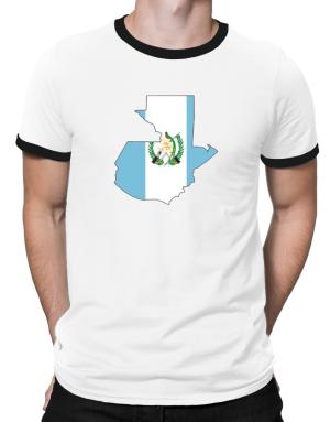 Guatemala - Country Map Color Simple Ringer T-Shirt