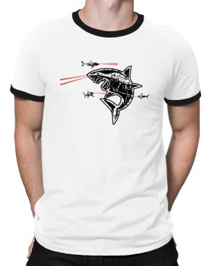 Sharks with Frickin Laser Beams Ringer T-Shirt