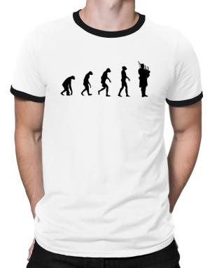 Evolution man to bagpipe Ringer T-Shirt