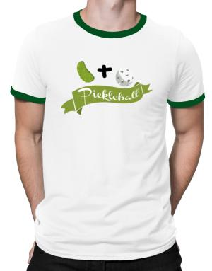 Pickle plus ball equals pickleball Ringer T-Shirt