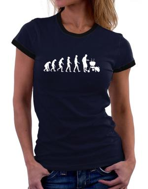 BBQ Evolution Women Ringer T-Shirt