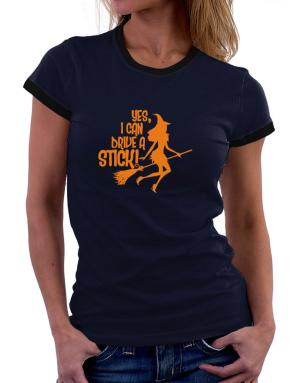 Yes, I Can Drive A Stick! Women Ringer T-Shirt