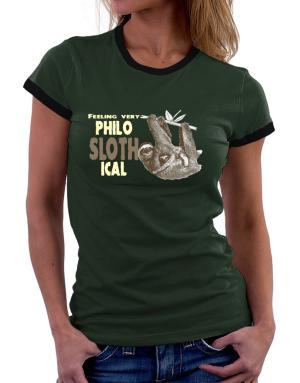 Philosophical Sloth Women Ringer T-Shirt