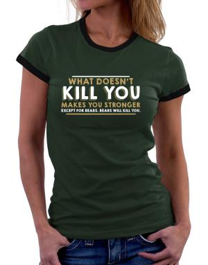 Camisetas Ringer de Mujer de What doesn