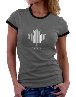 Made in Canada Women Ringer T-Shirt