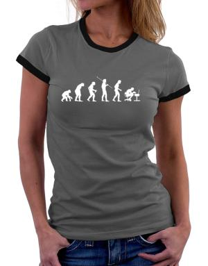 Evolution of gamer Women Ringer T-Shirt