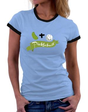 Pickle plus ball equals pickleball Women Ringer T-Shirt