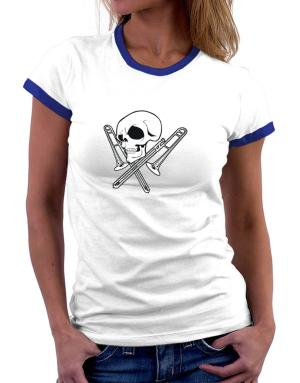 Playeras Ringer de Skull and Trombone