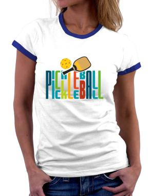 Pickleball fan Women Ringer T-Shirt