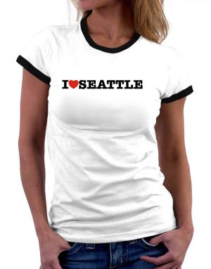 I Love Seattle Women Ringer T-Shirt