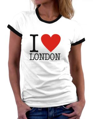 I Love London Classic Women Ringer T-Shirt
