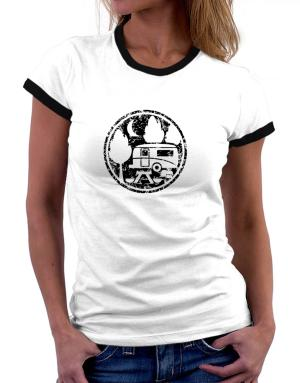 Travel trailer camping Women Ringer T-Shirt