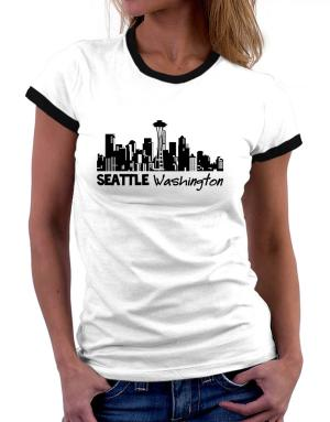 Seattle, Washington skyline Women Ringer T-Shirt