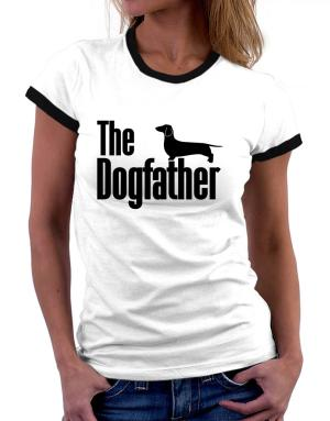 The dogfather Dachshund Women Ringer T-Shirt