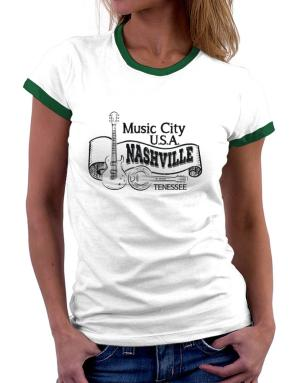 Music city Usa Nashville Tennessee Women Ringer T-Shirt