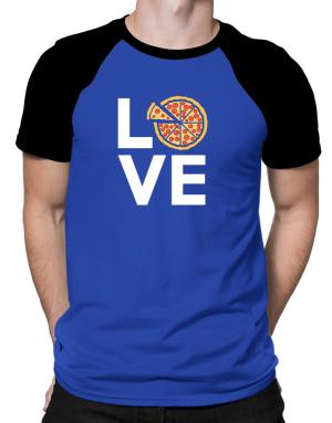 Love pizza Raglan T-Shirt