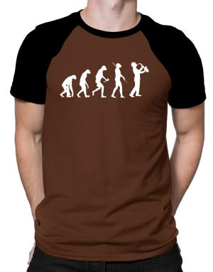Playeras Raglan de Saxophone Player Evolution