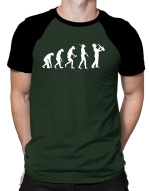 Saxophone Player Evolution Raglan T-Shirt