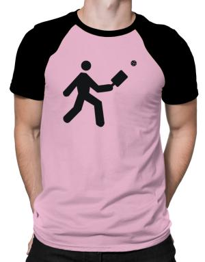 Pickleball Stickman Raglan T-Shirt